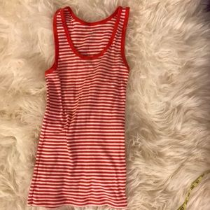 Gap red striped tank top
